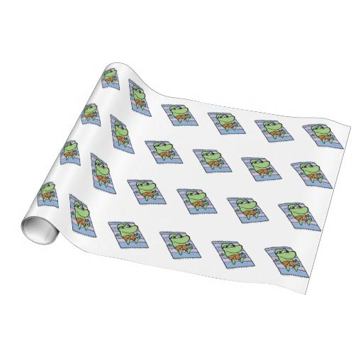 Wrap your presents with this cute Mort the Frog sun baking wrapping paper. $21.95