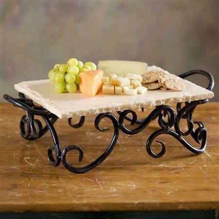 Siena Server With Marble Top. Wrought Iron DecorWrought Iron DesignsTuscany  KitchenBlacksmithing ...