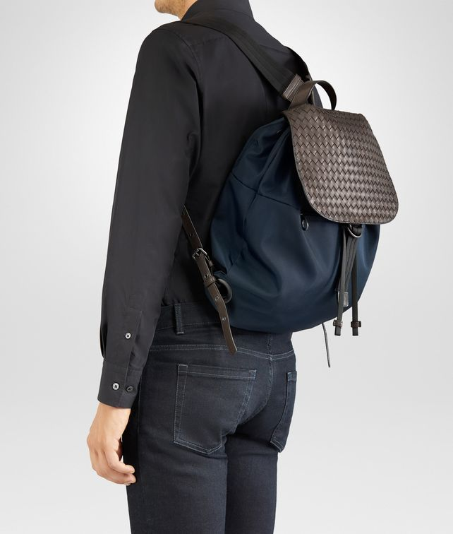 d5d38884eb BOTTEGA VENETA BACKPACK IN TOURMALINE TECHNICAL CANVAS AND ESPRESSO  INTRECCIATO CALF Messenger Bag U fp