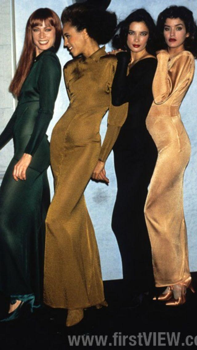 Alaïa 1987 (models Tara Shanon, Alva Chin, Janice Dickenson and others)