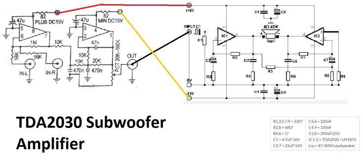 TDA2030 make for Subwoofer Amplifier Circuit (com imagens)
