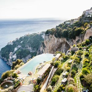Monastero Santa Rosa Hotel and Spa on the Amalfi Coast-Italy's famous Amalfi Coast. This monastery-turned-hotel offers all the peaceful seclusion the sisters enjoyed, with none of the personal sacrifices. And though the popular coastline is studded with hotels, this distinctive destination—with its unmatched combination of five-star luxuries, natural beauty and centuries of character—is a serious standout.