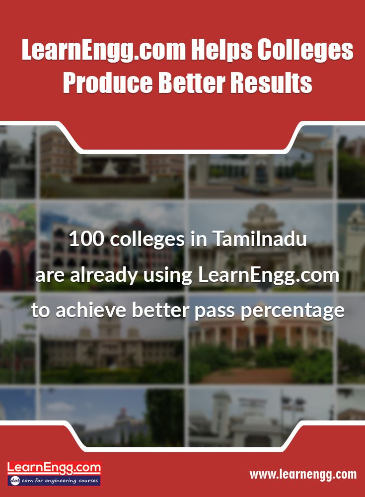 LearnEngg.com helps colleges produce better results. 100  colleges in Tamilnadu are already using LearnEngg.com to achieve better pass percentage. To know more, visit our website [Click on the image] #engineering #results #learnengg