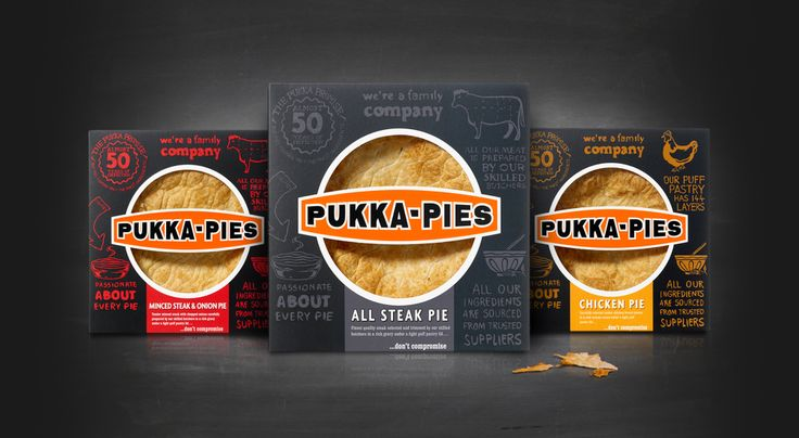 Pukka Family Pies packaging design
