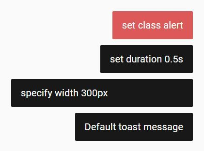Just another #jQuery material #toast plugin used for creating temporary, stackable toast/alert notification messages that will destroy themselves after a specific timeout.