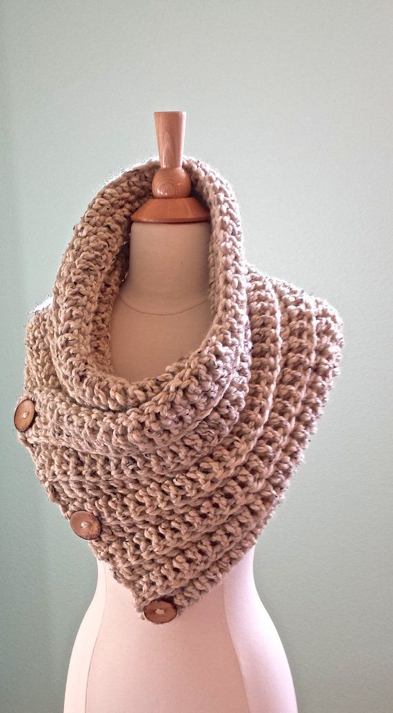 Crochet infinity scarf Harbor Cowl Oversized by AnniesHookNook