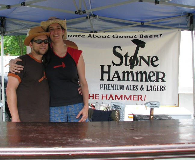 Ahhhh, Matt & Nikki at the Kitchener Craft Beer & Rib Fest 2010. Cute!