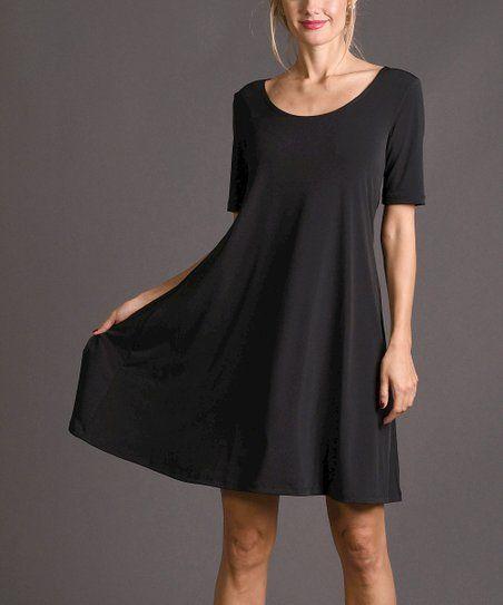 c8260e02741be8 Lbisse Black Shift Dress - Women   Plus