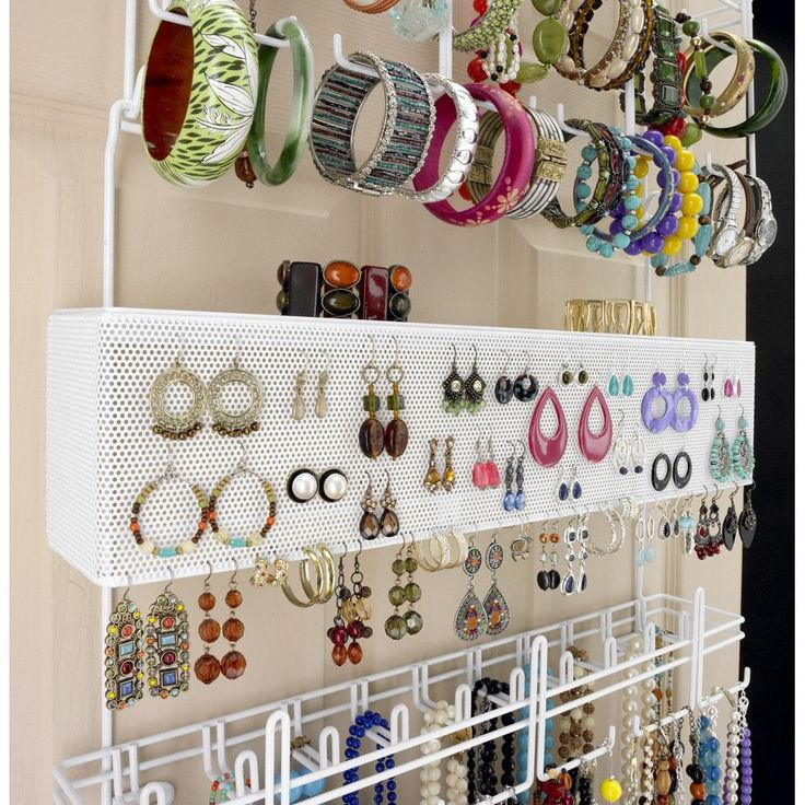 Over The Door Jewelry Organizer Diy Pinterest