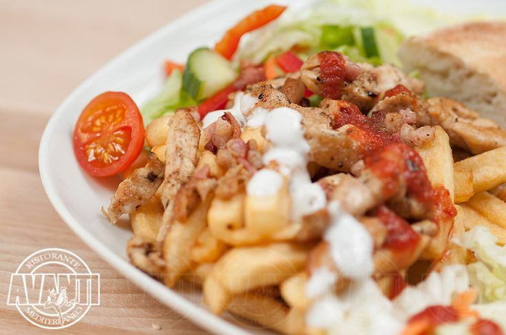 Gyros plate (Gyros plate with chicken, vegetables and fried pita)