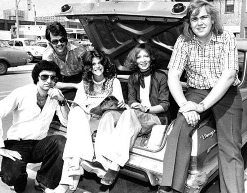Eugene Levy, Dan Aykroyd, Gilda Radner, Rosemary Radcliffe and John Candy