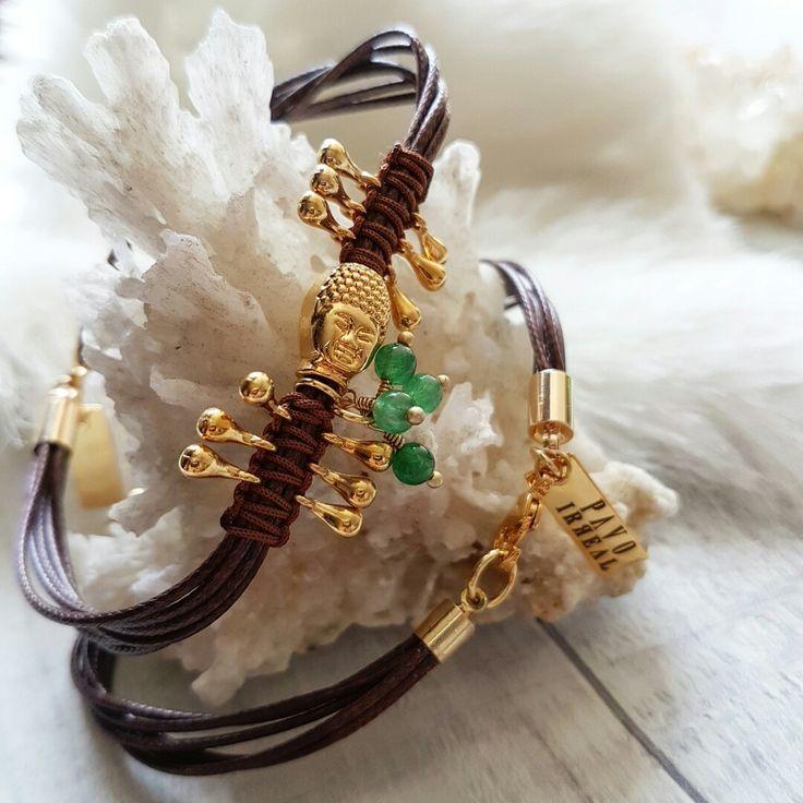 Ref:PU2130 Pulsera Gautama wisdom @pavoirreal #pavoirreal #bracelet #gautama #abundance #accesories #golden  #style #mystyle #handmade #design #colombiandesign #style #biyoux #musthave #handcrafted #yocomprocolombiano💯✔️