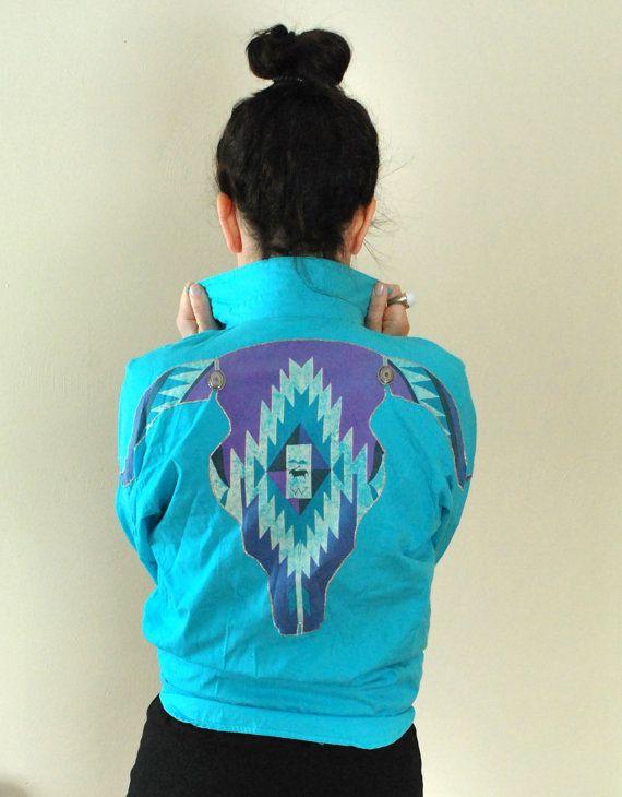 Vintage Wrangler Aztec Shirt, 1980's Wrangler Print Shirt, Western Clothing