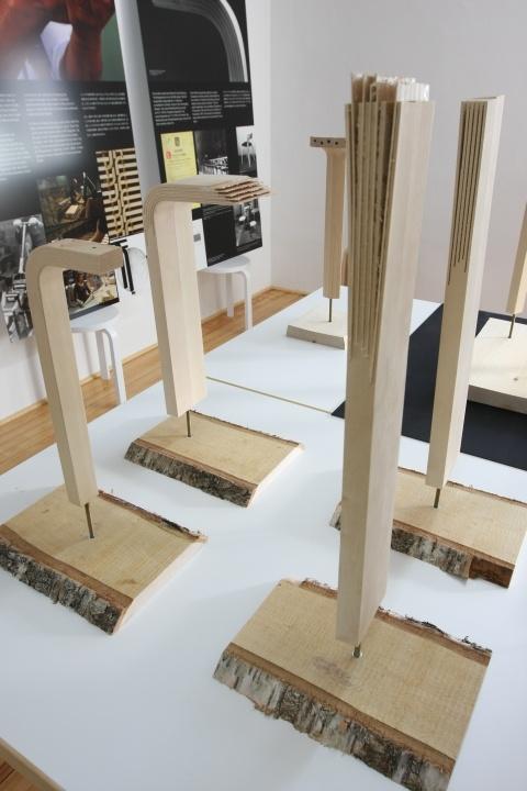 The wood bending process in more detail... by Artek