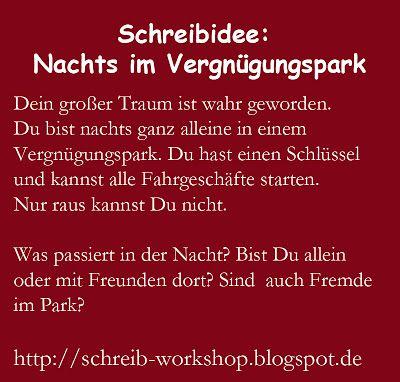 Kreatives Schreiben: Schreibaufgabe Nr. 96: Nachts im Vergnügungspark