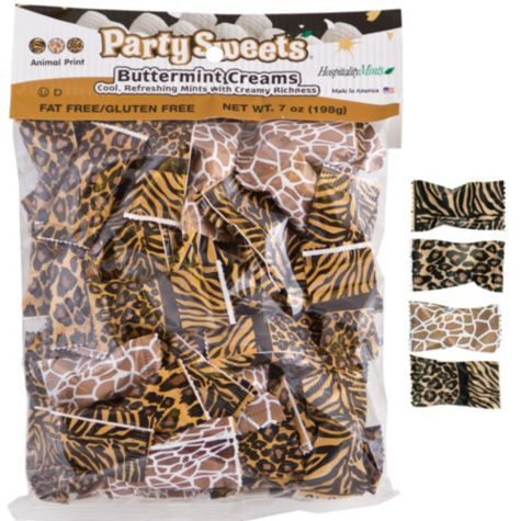 Animal Print Party Mints 50ct - Party City