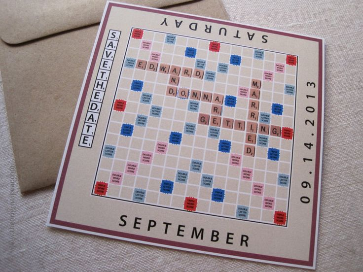 Scrabble Board Game  Save The Date by theoriginalpear on Etsy, $1.75