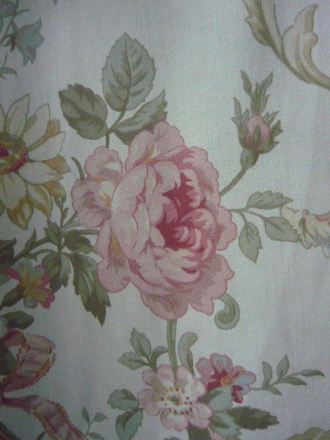 Pair St Michael - Marks and Spencer - M&S Vintage Retro Curtains Flowers & Bows