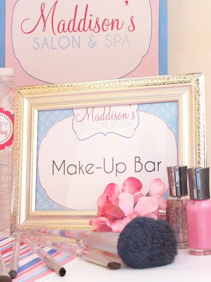 Best 25+ Makeup Birthday Parties Ideas On Pinterest | Makeup For Party Kids Spa Party And ...
