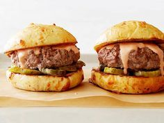 The Big Marc : Plain-old hamburger buns don't do Marc Murphy's signature burger justice — he serves his beefy patties on homemade cheddar-and-black-pepper buns.