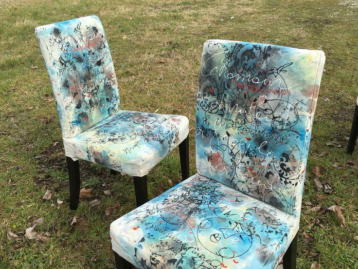 Sedie su prenotazione dipinte a mano