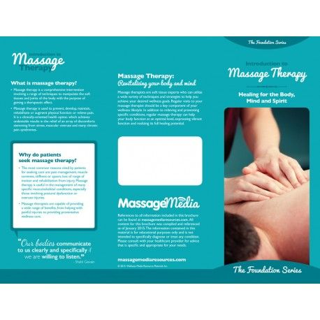 Best Massage Therapy Brochures Images On   Brochures