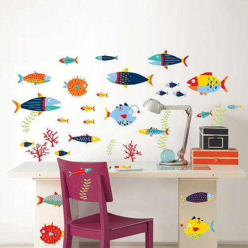 Found it at Wayfair - Wall Art Kit Fish Tales Wall Decal