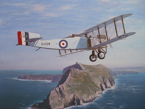 14 Fairy III D over Cape Point, April 12, 1926.    760 x 912 mm.    Signed 86 L/R
