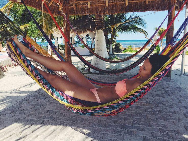 Cozumel, Mexiko, 2015 Relaxen in der Hängematte
