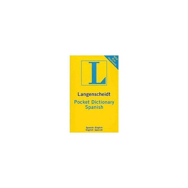Langenscheidt Pocket Dictionary Spanish (Bilingual) (Paperback)