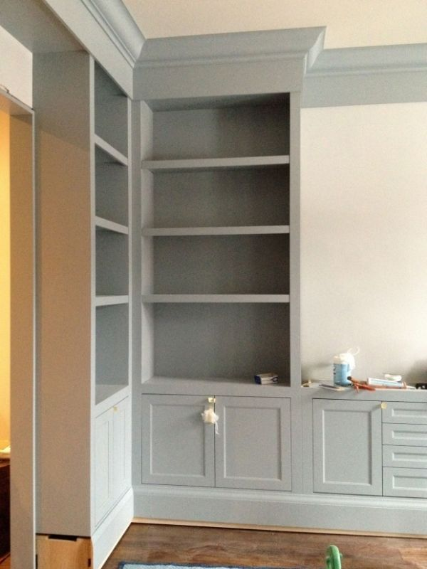 Benjamin Moore Boothbay Gray. Cabinets or trim?