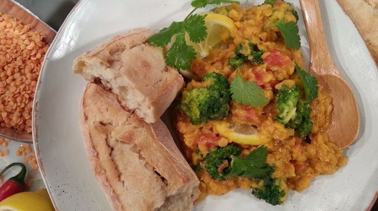 Nisha Katona serves up a healthy Indian dish that doesn't compromise  on flavour - her lemon and broccoli dahl!