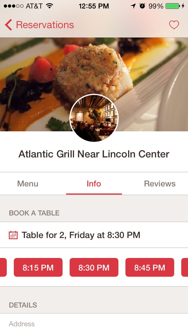 opentable iOS7 redesign