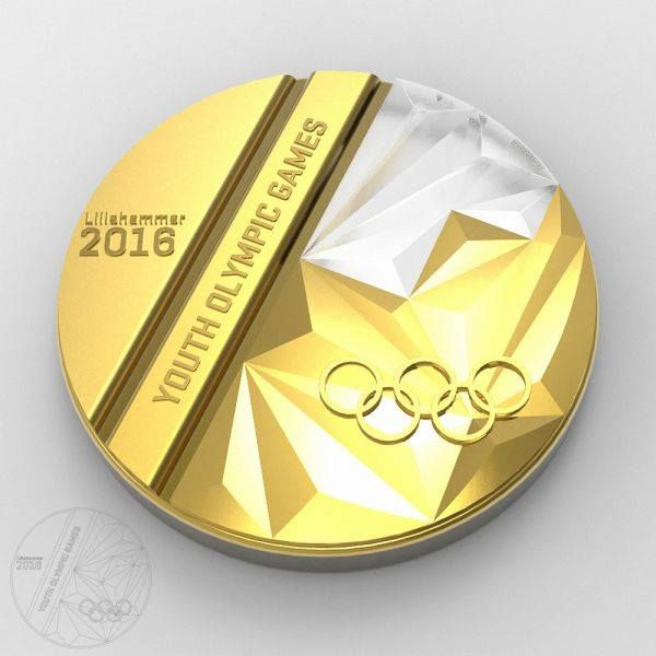 Here is the design for the winners' medal of the next Youth Olympic Games which will be held in Lillehammer, Norway from 12 February - 21 February 2016. Designed by Burzo Ciprian, from Romania It symbolises the podium, the mountains, snow/ice tracks. The emblem of theLillehammer 2016 Youth Olympic Games is also featured on the medal.http://bit.ly/1eX620k