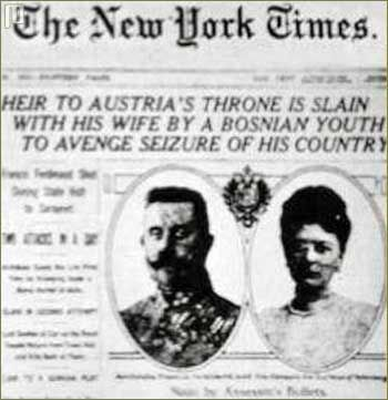 28. lipnja 1914. Gavrilo Princip izvršio je atentat na Franju ferdinanda.Atentat u Sarajevu poslužio je kao povod za rat  (Austro-Ugarska navijestila rat Srbiji)
