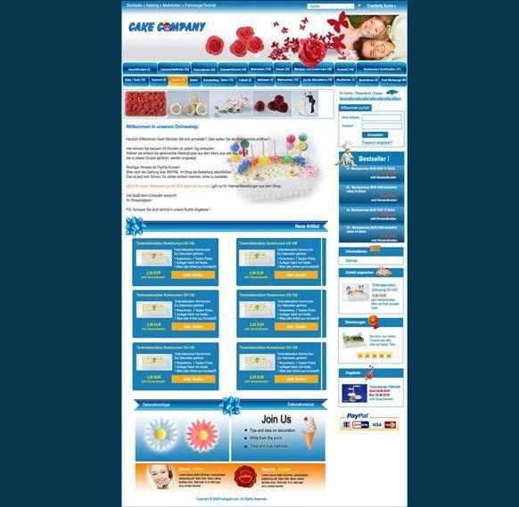 web design for a cake company