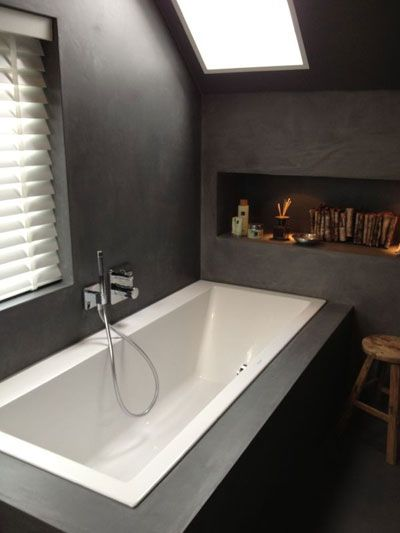 Project woonboerderij - betonstuc badkamer - door Molitli Interieurmakers
