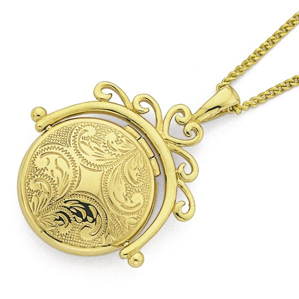9ct Gold Round Spinner Locket