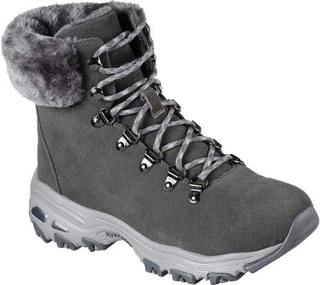 Women's Skechers D'Lites Alps Ankle Boot - Gray with FREE Shipping & Exchanges. Classic casual style and warm comfort combine into the SKECHERS D'Lites - Alps Ankle Boot. Soft