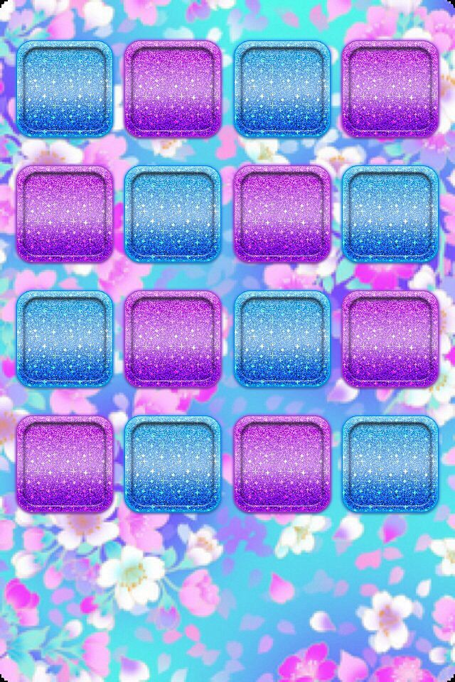 Blue W Purple Background And App Holders