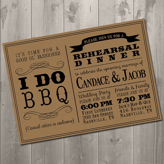 High Quality I DO BBQ Wedding Rehearsal Dinner By SimplySmittenDesigns On Etsy .would  LOVEEEE To Have My Wedding In Nashville.and The Rehearsal Dinner At Jacks  BBQ!