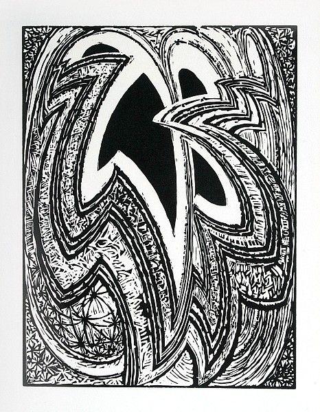 František Kupka  Čtyři příběhy bílé a černé XVI  dřevoryt, 1926, opus NGK 86XVI