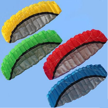 Free Shipping Outdoor Sports Hot Sale 2.5 m Dual Line Stunt Parafoil Nylon Power Kite + Flying Tool