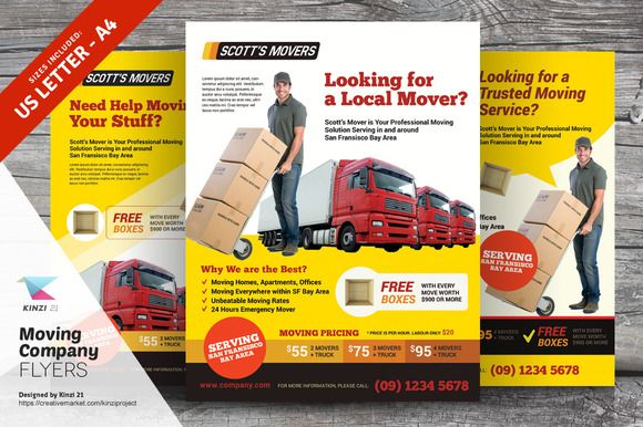 moving company flyer templates by kinzi21 on  creativework247