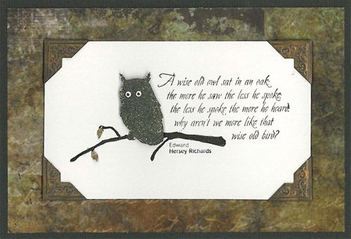 Stamp-it Australia: 4042E Wise Owl - Card by Susan