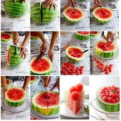 DIY Watermelon Cake ^ ^