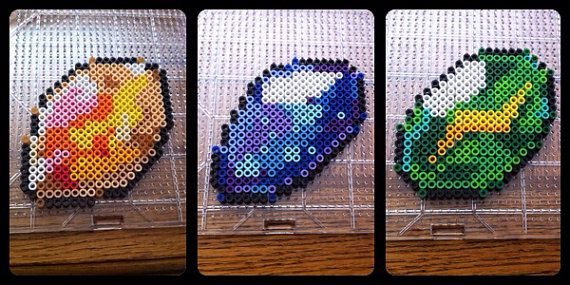 Pokemon Perler Bead Evolution stones