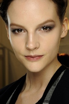 VALENTINO - dewy base, ethereal prettiness.  Backstage Beauty Autumn Winter 2012-13 - Catwalk Make-Up (Vogue.com UK)