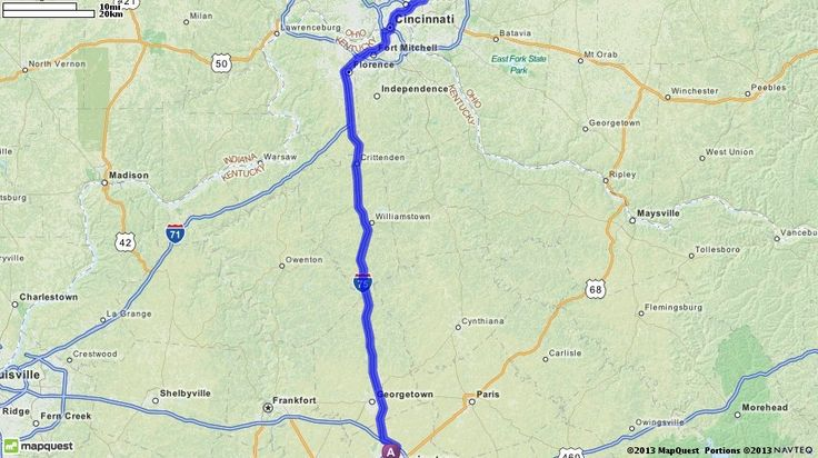 Driving Directions from Lexington, Kentucky to 7875 Montgomery Rd, Cincinnati, Ohio 45236 | MapQuest