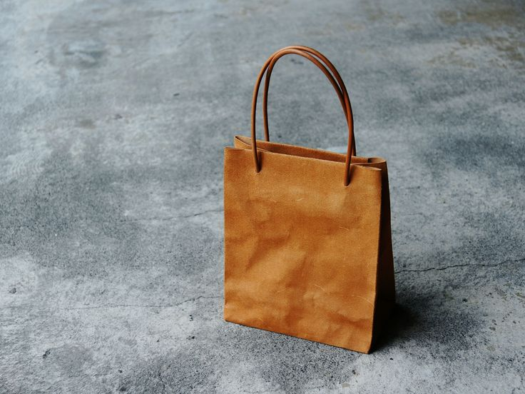 PAPER MOTIF BAG - A24HR8M.JP HANDMADE LEATHER CRAFTS.